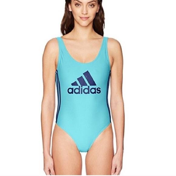 1c7ffebd3c adidas Swim   Core Solid Logo One Piece Suit   Poshmark